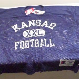 Champion Kansas Blue Field Football Jersey XL